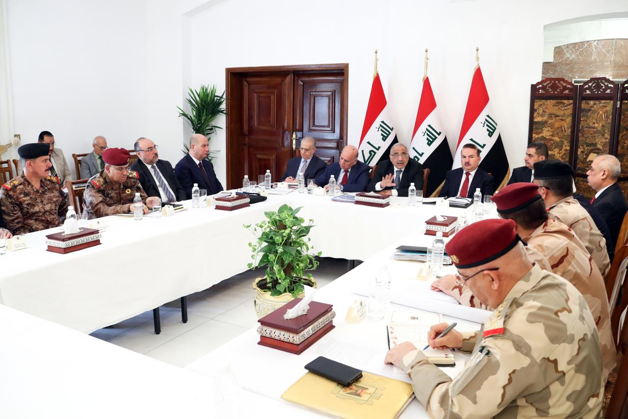 Prime Minister Abd Al-Mahdi briefs National Security Council on latest political, security developments 28-8-201903