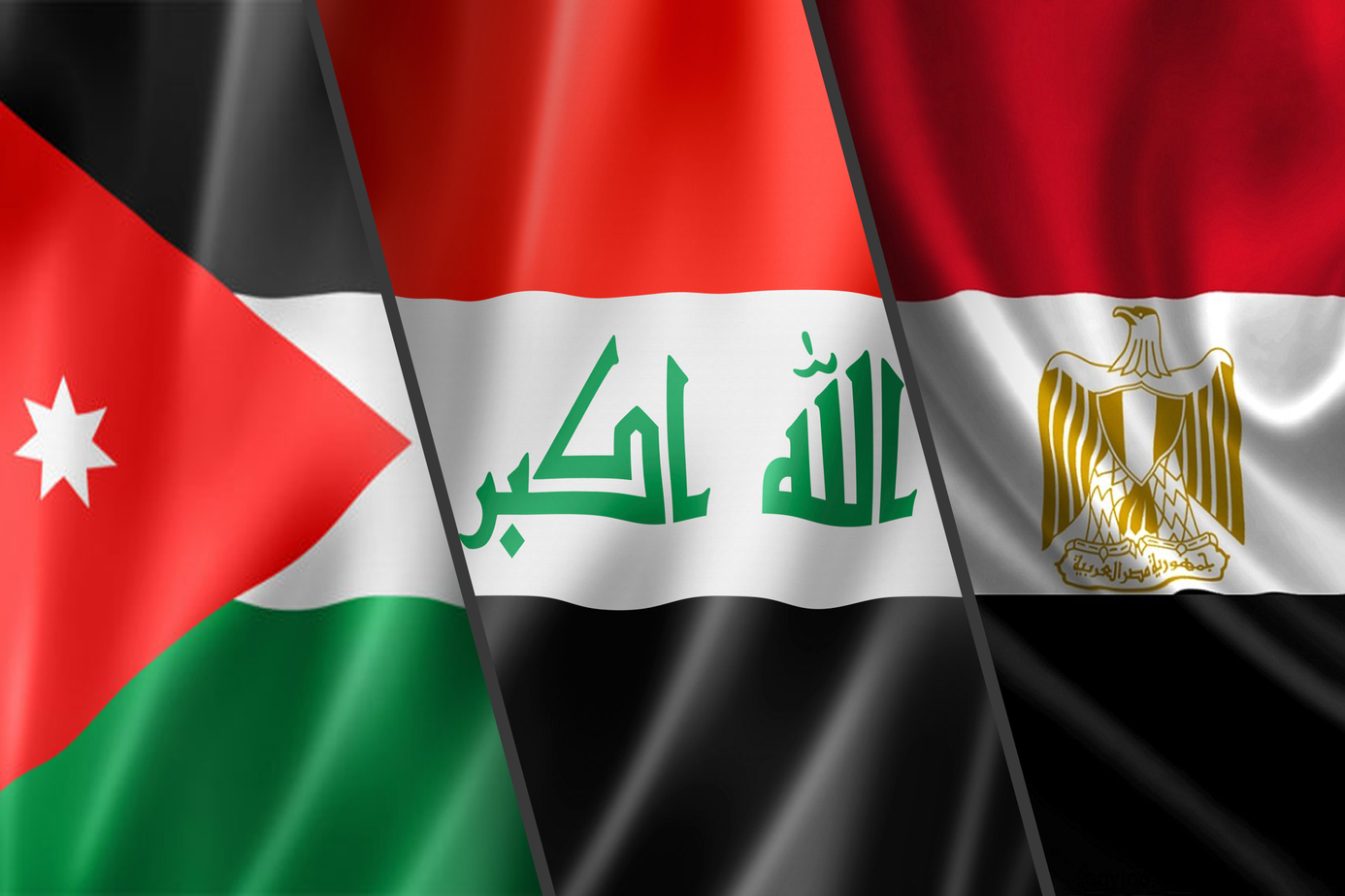 Next Sunday .. Baghdad hosts the trilateral summit between Iraq, Egypt and Jordan Flags