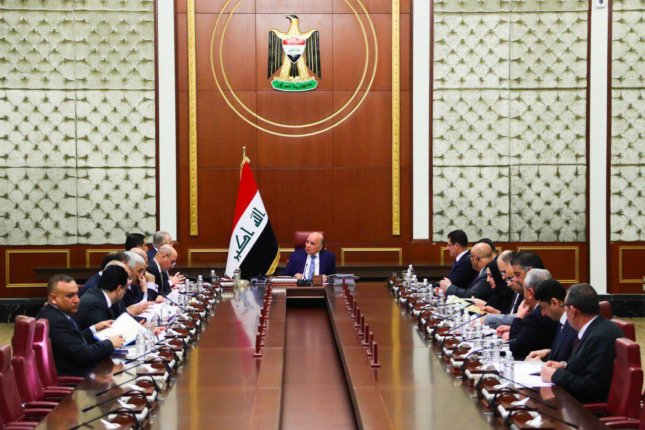 The meeting of the Cabinet in Baghdad on 04 Feb 2020