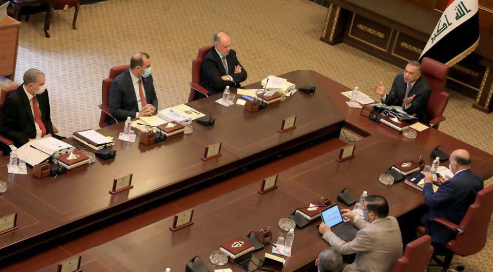 Cabinet discusses Covid-19, approves the completion of the Baghdad security cameras project 123750097_3477946512313321_8308179524428552945_o